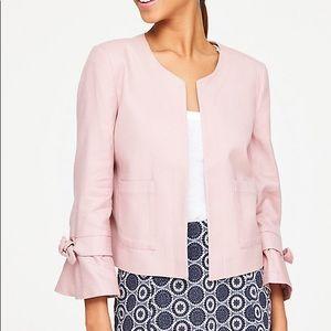 Pink azalea sleeve jacket blazer loft medium